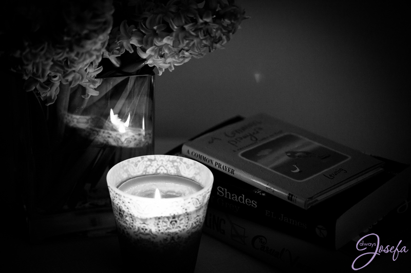 no sleep, candle, hyacinth