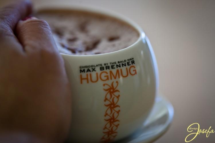hug mug, max brenner, allergies