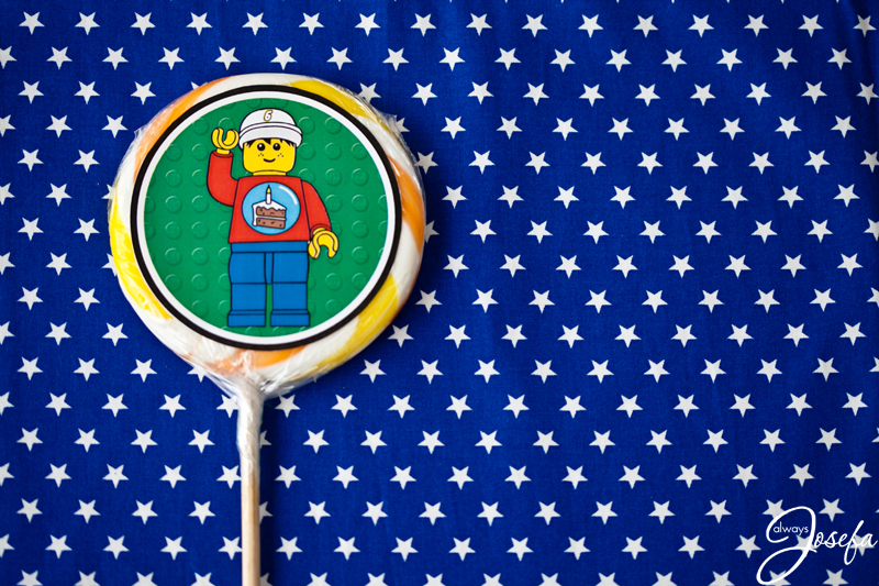 Lego birthday party favours